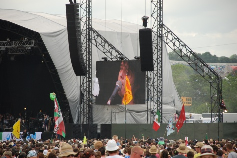 Pete Doherty en el Other Stage, Glastonbury 2009